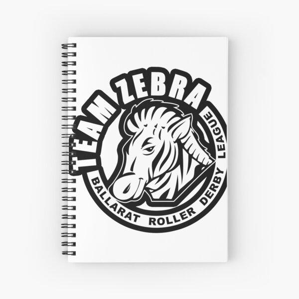 "BRDL ""Team Zebra"" Logo - Clothing, Phone Cases, Notebooks & MORE Spiral Notebook"