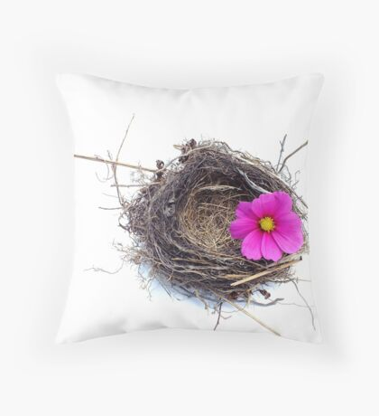 Empty nest.... Throw Pillow