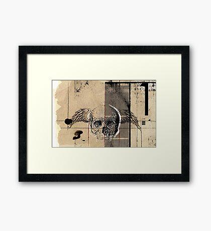 uno flying death Framed Print