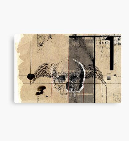 uno flying death Canvas Print