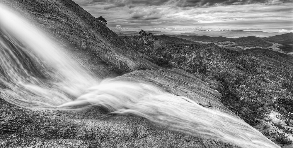 Water over granite, Mt. Buffalo by Kevin McGennan