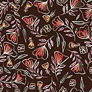 Careless floral pattern by Losenko  Mila