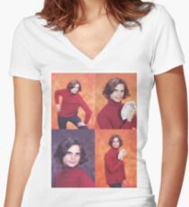 The Iconic Photo Shoot Women's Fitted V-Neck T-Shirt