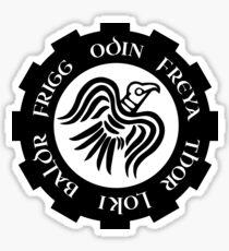 Raven Banner Norse Gods Sticker