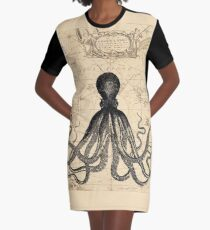 The Kraken Is All Graphic T-Shirt Dress