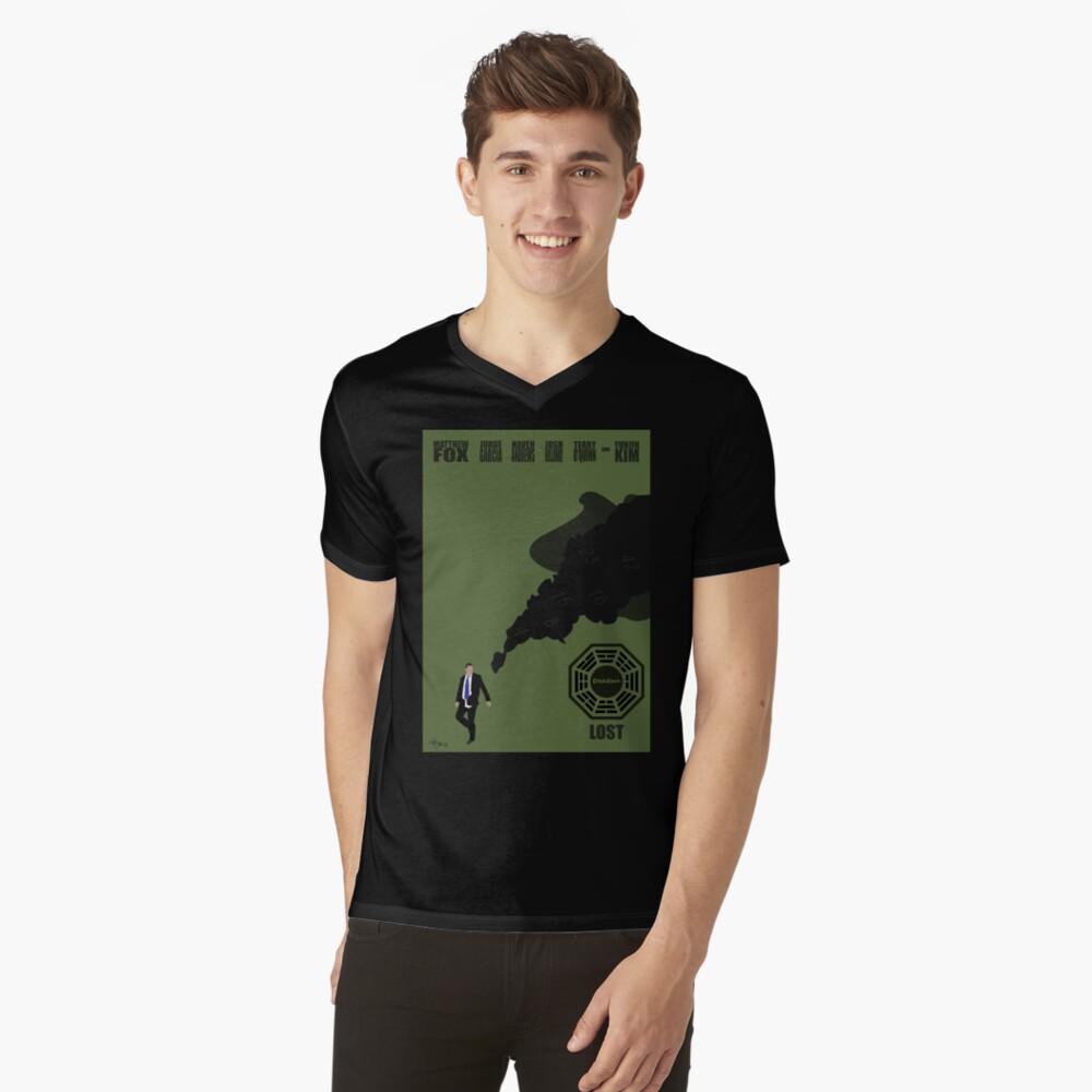 Lost Poster Mens V-Neck T-Shirt Front
