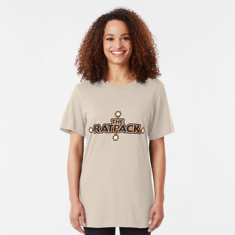 "BRDL ""The Rat Pack"" Logo - Clothing, Pillows & Mugs Slim Fit T-Shirt"