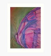 Pink and Purple Butterfly Art Print