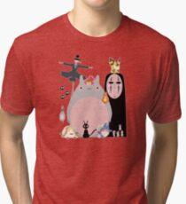 Studio Ghibli Gang Tri-blend T-Shirt