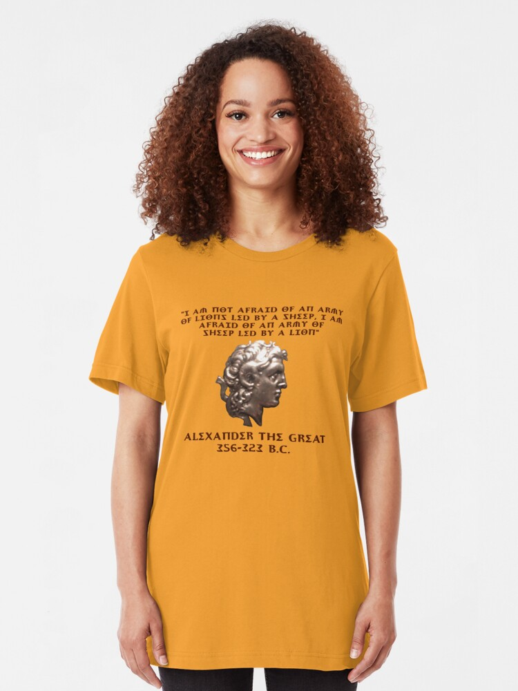 Alternate view of Alexander the Great Slim Fit T-Shirt