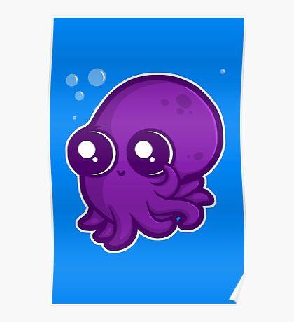 Super Cute Squid Poster