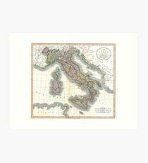 Italy map by John Cary - 1799 Art Print