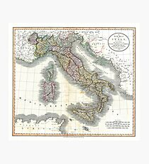 Italy map by John Cary - 1799 Photographic Print