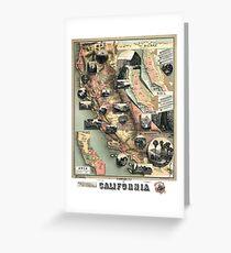 California - United States - 1888 Greeting Card
