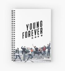 BTS I Need U Era Young Forever Edit Spiral Notebook