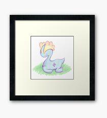 Sleepy Dino Framed Print