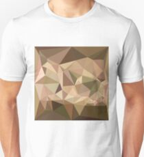Burlywood Abstract Low Polygon Background Unisex T-Shirt