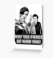 Use the Force, Doctor Jedi (Cartoon) Greeting Card