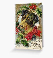 Vintage  Christmas Greeting Card Greeting Card