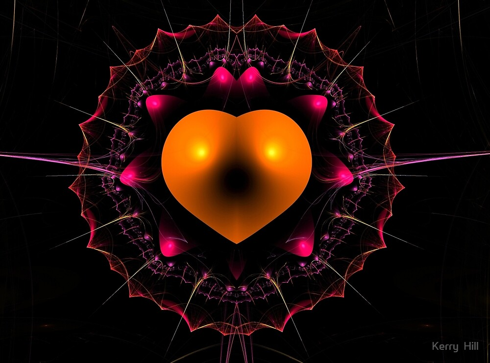 Heart Fractal by Kerry  Hill