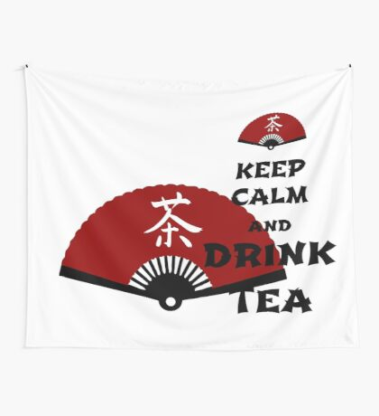 keep calm and drink tea - asia edition Wall Tapestry