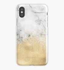 Gold Dust on Marble iPhone Case/Skin