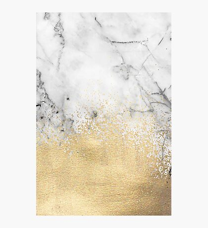Gold Dust on Marble Photographic Print