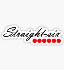 Straight 6 red Sticker