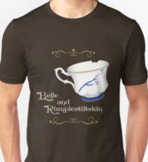 Belle and Rumplestiltskin's cup Unisex T-Shirt