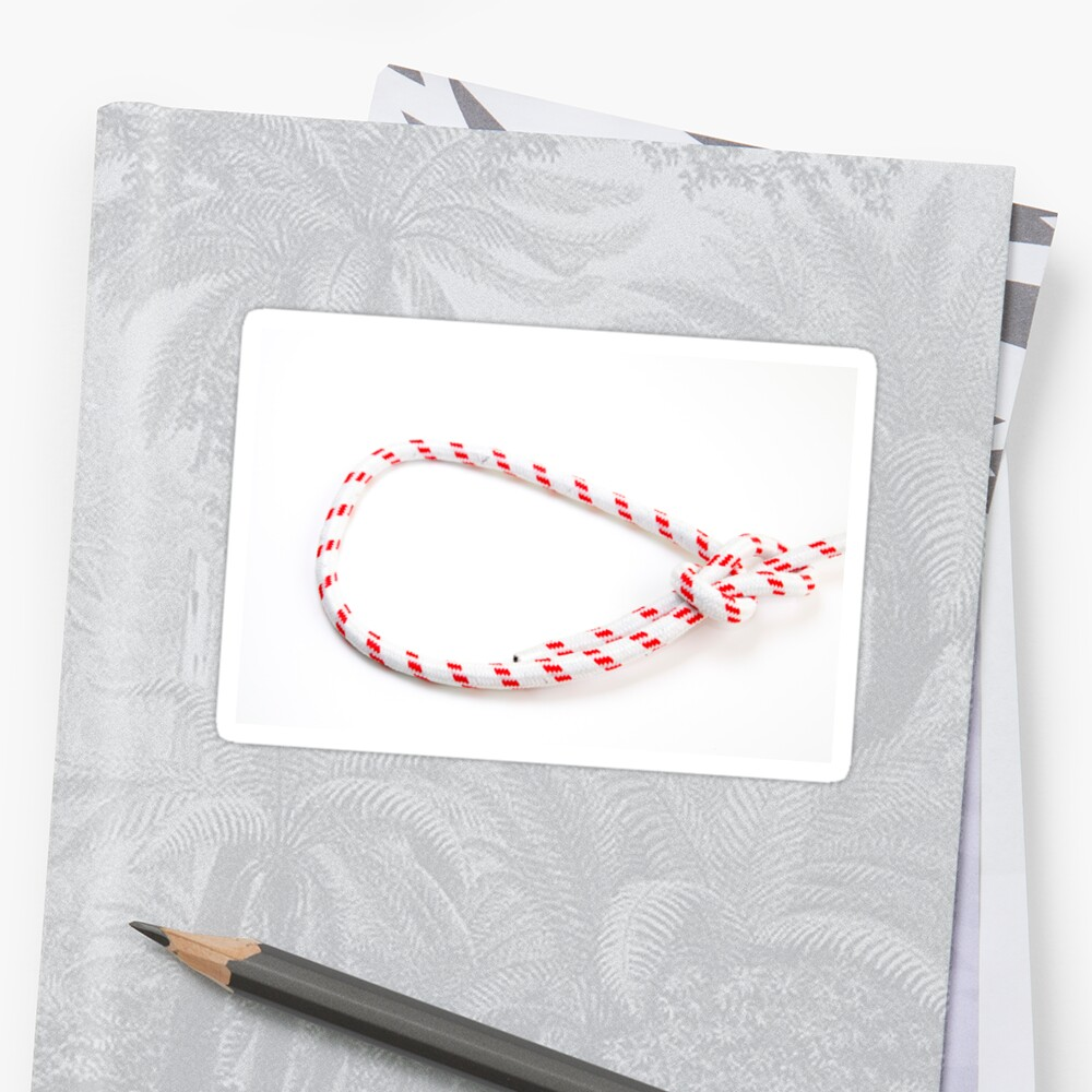 Bowline Knot On One Of The Most Used Loop Knots Stickers By How To Tie A Photostock Isra