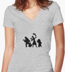 Frequentierte Villa Per Anhalter Geister Tailliertes T-Shirt mit V-Ausschnitt