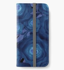 Seamless textile design Roses.  iPhone Wallet