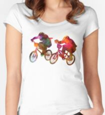 BMX Race Women's Fitted Scoop T-Shirt