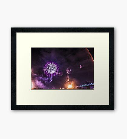 Purple Sky Framed Print
