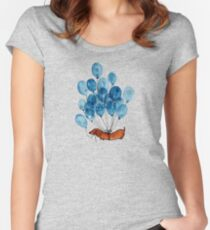 Dachshund dog and balloons Women's Fitted Scoop T-Shirt