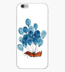 Dachshund dog and balloons iPhone Case