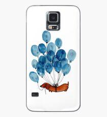 Funda/vinilo para Samsung Galaxy Perro Dachshund y globos