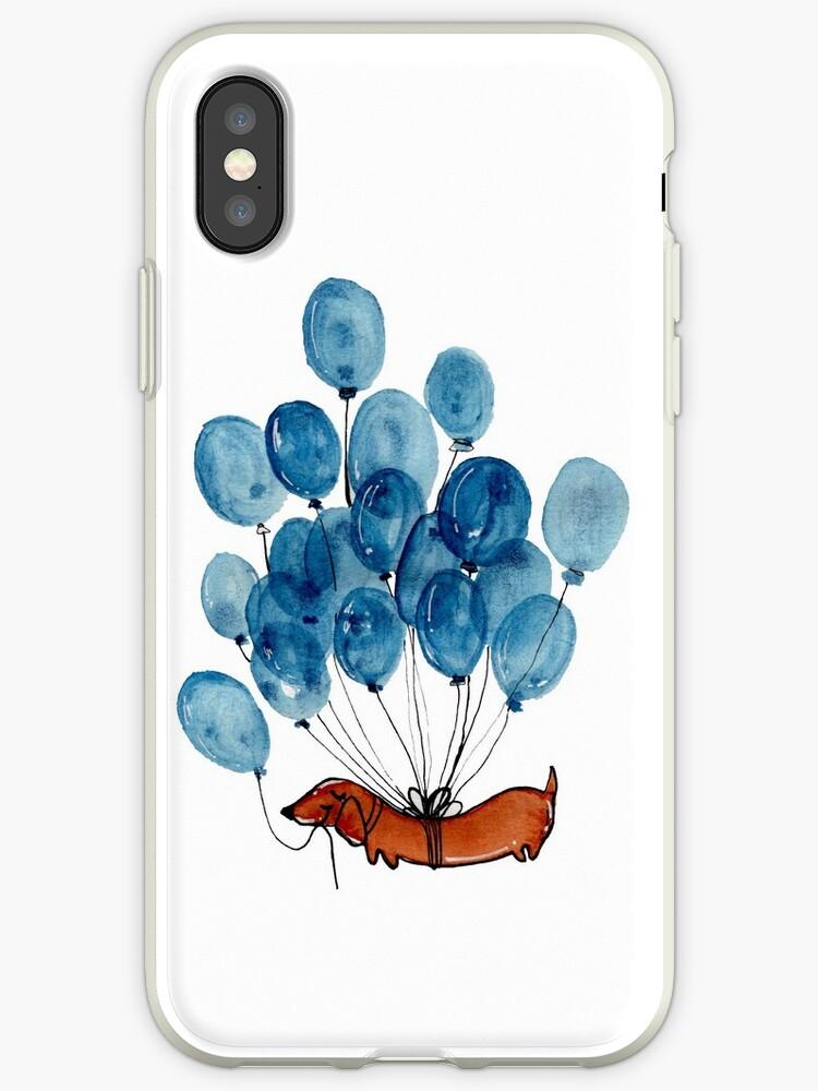 «Perro Dachshund y globos» de KaylaPhan