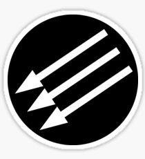 Antifacist Circle / Iron Front logo Sticker