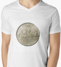 New Jersey Decorated back of a US one Quarter Dollar T-Shirt