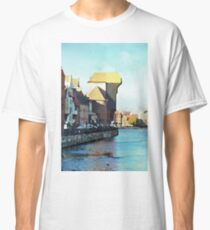 Gdansk old town in watercolor Classic T-Shirt