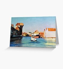 Gdansk old town in watercolor Greeting Card