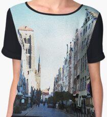 Gdansk old town in watercolor Women's Chiffon Top