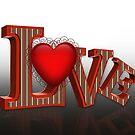LOVE 3D pop art von Irisangel