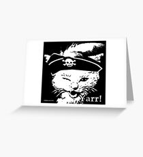 Pussy Pirate Greeting Card
