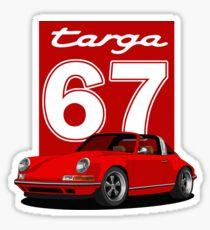 Porsche 911 red targa Sticker