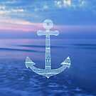 Aztec Pattern Anchor On The Ocean by Media Jamshidi