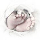 Baby feet pencil sketch by Irisangel