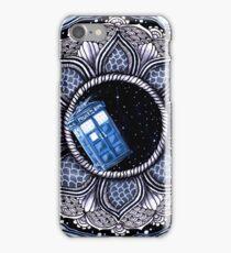 Tardis in space mandala iPhone Case/Skin