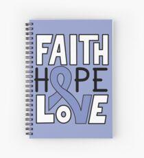 Faith Hope Love - Esophageal Cancer Awareness Spiral Notebook